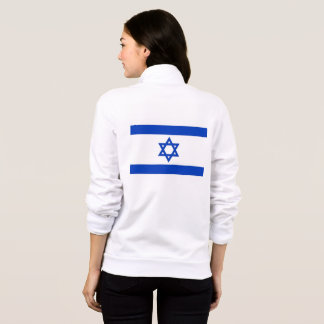 Women's  Fleece Zip Jogger with flag of Israel