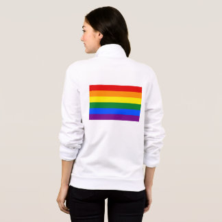 Women's  Fleece Zip Jogger with Pride Rainbow flag
