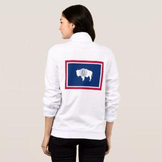 Women's  Fleece Zip Jogger Wyoming flag