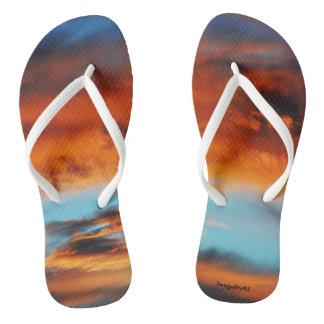 """Women's Flip Flop Sandals """"Fire In The Sky"""""""