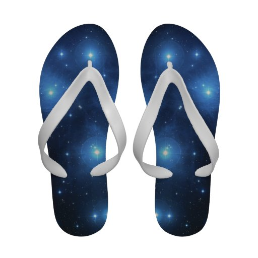 Women's Flip Flops With Pleiades Picture