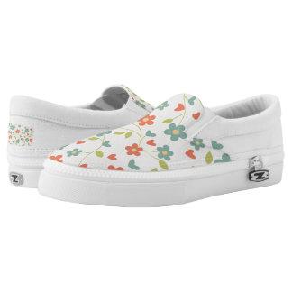 Womens Flower Slipons Slip On Shoes