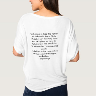 Women's flowing T-shirt - We Believe