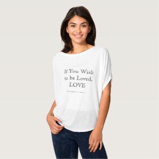 Women's Flowy Circle Top - Love