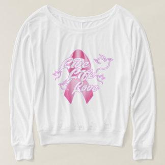 Women's Flowy off shoulder shirt w/ Pink LLL logo