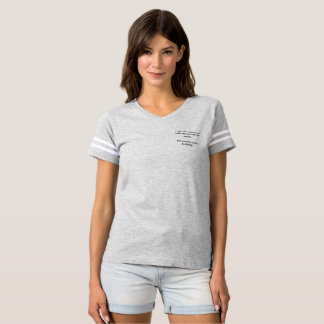 Women's football T-shirt, fighting word wear T-Shirt