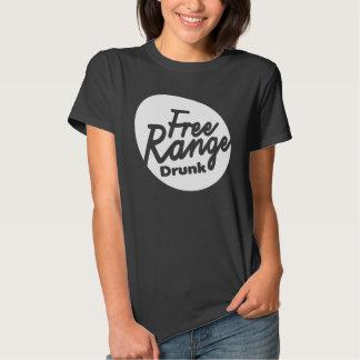 Women's Free Range Drunk Shirt. Tee Shirt