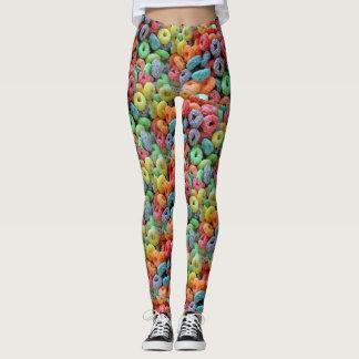 Women's Fruity Cereal Fruit Loops Leggings