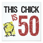 Women's Funny 50th Birthday 13 Cm X 13 Cm Square Invitation Card