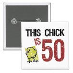 Women's Funny 50th Birthday 15 Cm Square Badge
