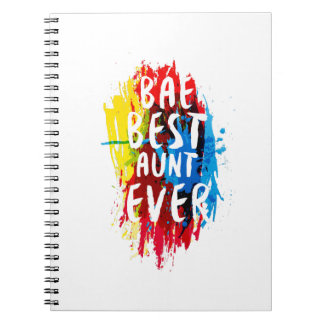 Womens Funny BAE  Best Auntie Ever Mom Mothers Notebook