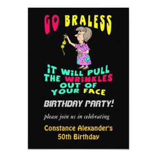 Womens Funny Birthday Party Invitations