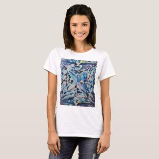 Women's Glass Diamond Art by Jennifer Shao T-Shirt