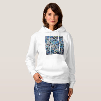 Women's Glass Diamond Hooded Sweatshirt