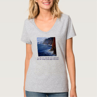 Women's Gray Ocean T-shirt
