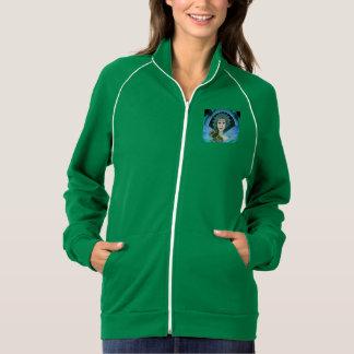 Women's Green Fleece Jacket with Blue-Green Fairy