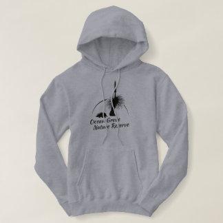 Womens Grey Hooded Jumper, Black OGNR Logo Shirt