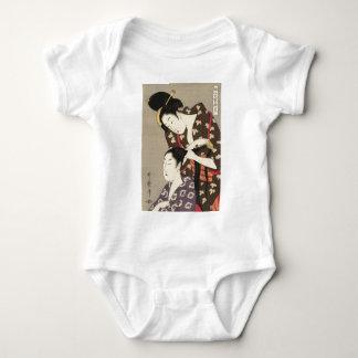 Womens Hairdressing Utamaro Yuyudo Ukiyo-e Art Baby Bodysuit