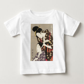 Womens Hairdressing Utamaro Yuyudo Ukiyo-e Art Baby T-Shirt