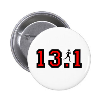 Womens half marathon 6 cm round badge