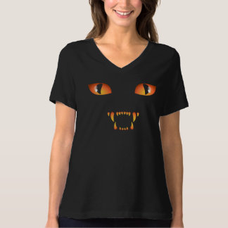 Women's Halloween Shirt Plus Size Black Cat Shirt