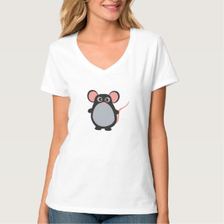 *Women's Hanes Nano V-Neck T-Shirt, Light Steel T-Shirt