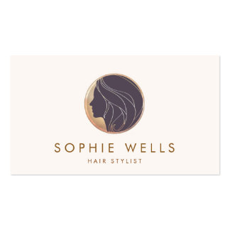 Women's Health and Beauty Salon and Spa Logo Business Card