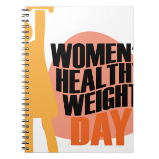 Women's Healthy Weight Day - Appreciation Day Notebooks