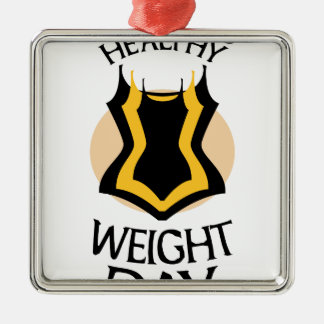 Women's Healthy Weight Day - Appreciation Day Silver-Colored Square Decoration