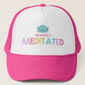 Women's Heavily Meditates Lotus Flower Yoga Trucker Hat
