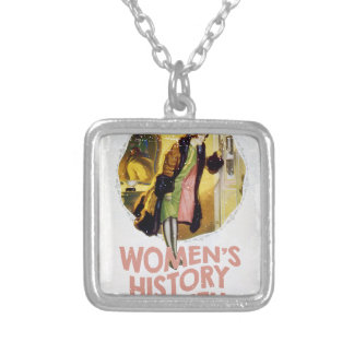 Women's History Month - Appreciation Day Silver Plated Necklace