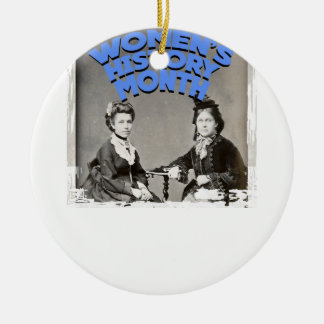 Women's History Month Ceramic Ornament
