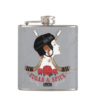 Women's Hockey Sugar and Spice Hip Flask