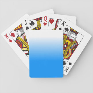 Women's Home Decor Trendy Blue Ombre Playing Cards