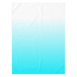 Women's Home Decor Trendy Cool Aqua Blue Ombre Tablecloth