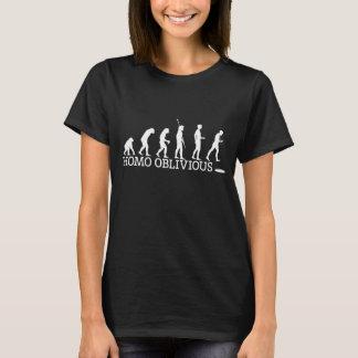 Women's Homo Oblivious T-shirt on dark.