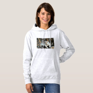 "Women's Hooded Sweatshirt ""Baby Ground Squirrel"""