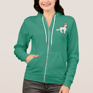 Women's Hoodie with illustration of dog