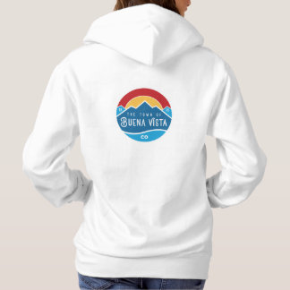 Women's hoodie with two logos