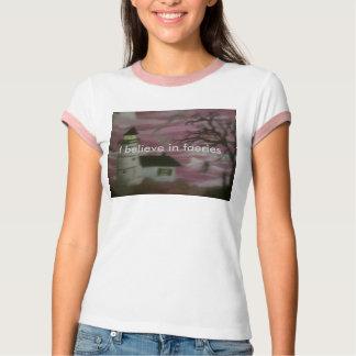 Womens I believe in faeries tee shirt