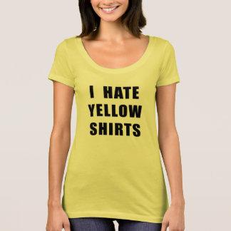 "Women's ""I Hate Yellow Shirts"" yellow shirt"