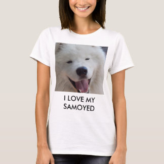 Women's I love my samoyed T-shirt
