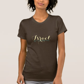 Women's Israel Top-Let God Prevail T-Shirt