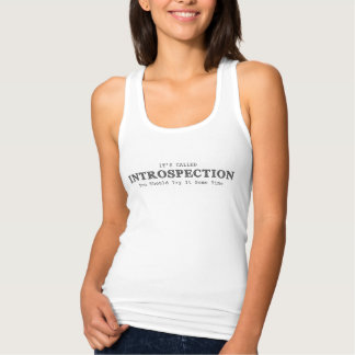 Womens It's Called Introspection White Singlet