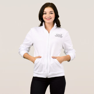 Women's Jacket with Bible Quote