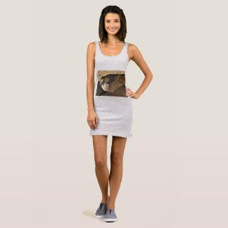 "Women's Jersey Tank Dress ""Dove"""