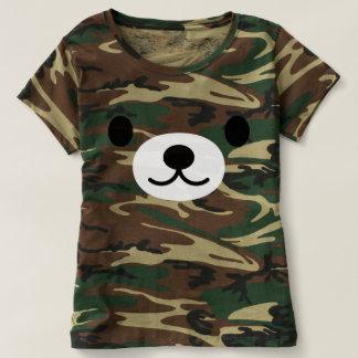 Women's Kawaii Teddy Bear Camouflage T-Shirt