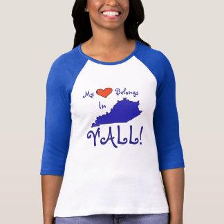 Women's Kentucky shirt-my heart belongs T-Shirt
