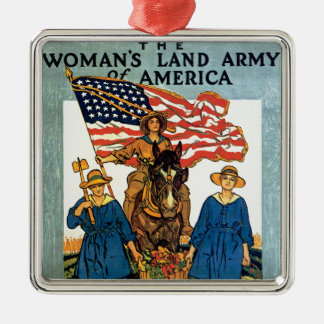 Women's Land Army Silver-Colored Square Decoration