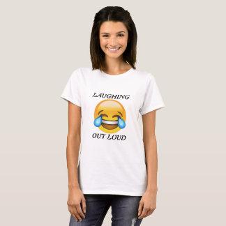 Women's Laughing Out Loud Emoji T-shirt